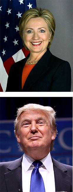Cinton and Trump